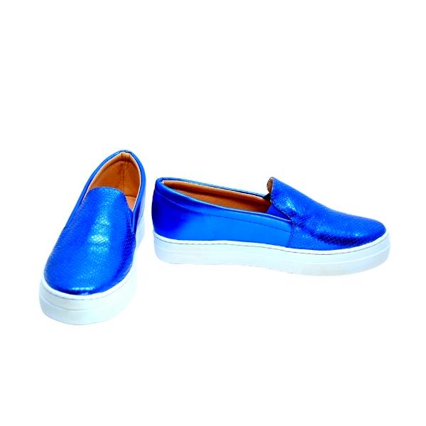 Slipper Craquelado Cromo Azul