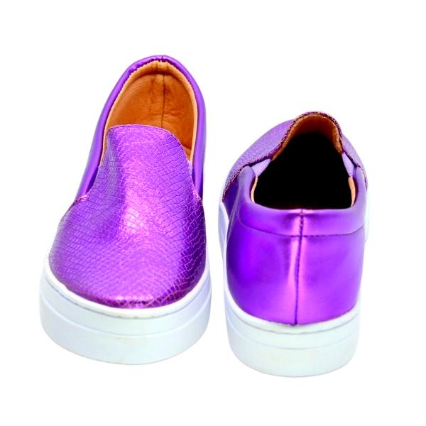 Slipper Craquelado Cromo Púrpura