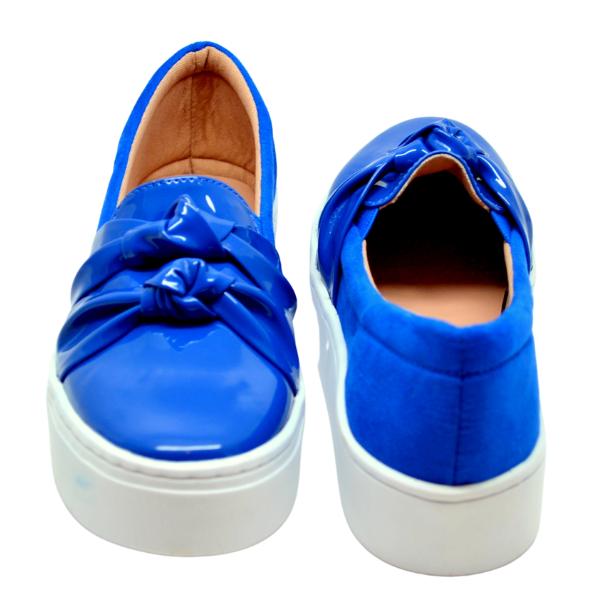 Slipper Verniz Azul