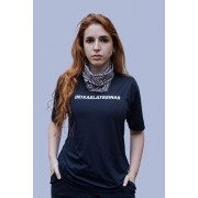 Camiseta (baby look) Deixa Ela Treinar Preto Básico