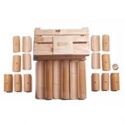 Kit Construção de Bambu (Pequeno) no caixote