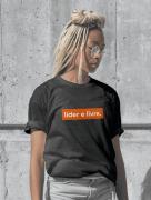 Líder e Livre (t-shirt preta)