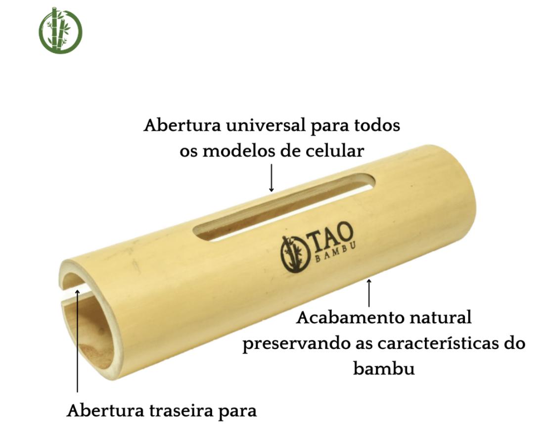 Caixa de Som de Bambu Rústica