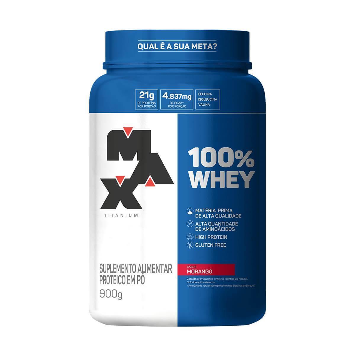 Whey Protein Max Titanium - 100% Whey Pote 900g