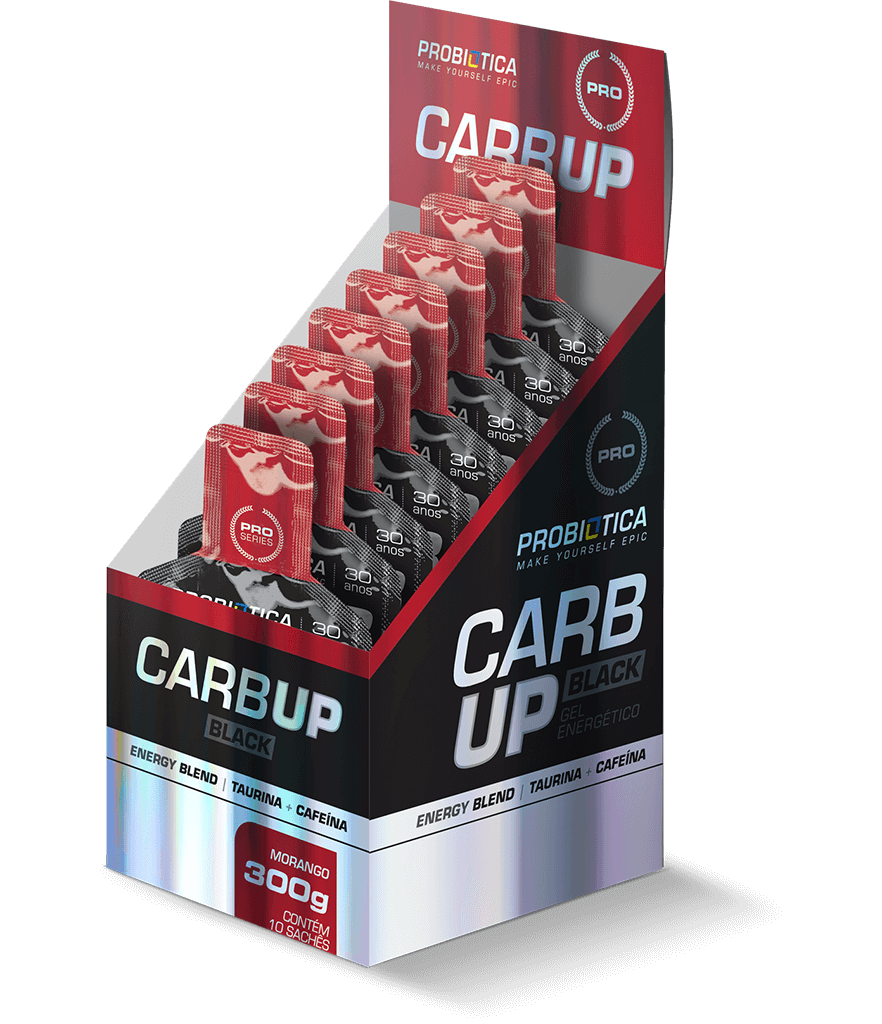 Carb Up Gel Black - 10 Saches - Sabores