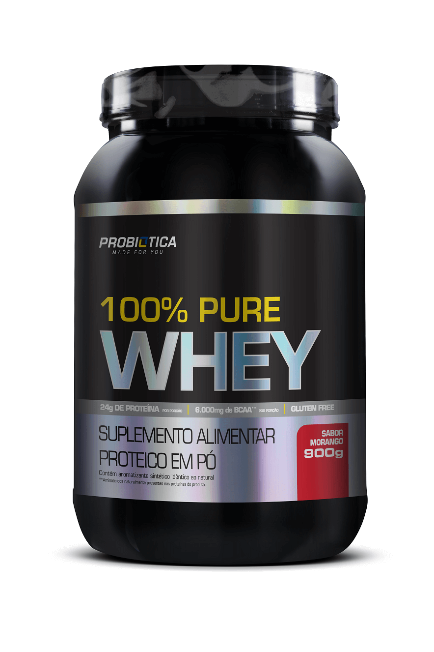 Whey Protein - 100% Pure - Pote 900g - Sabores