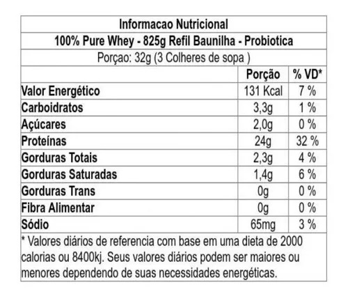 Whey Protein - 100% Pure - Refil 825g - Sabores