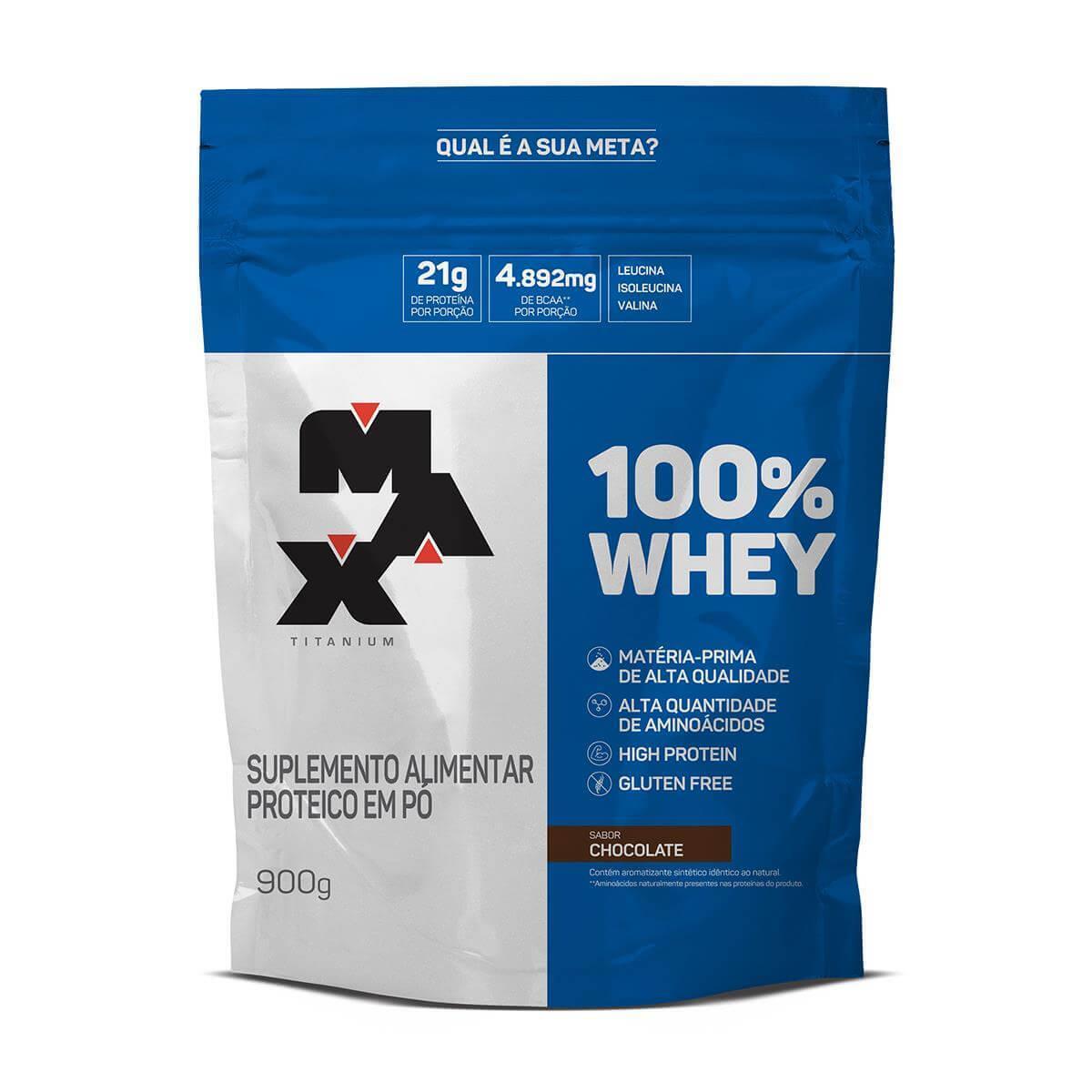 Whey Protein Max Titanium - 100% Whey Refil 900g