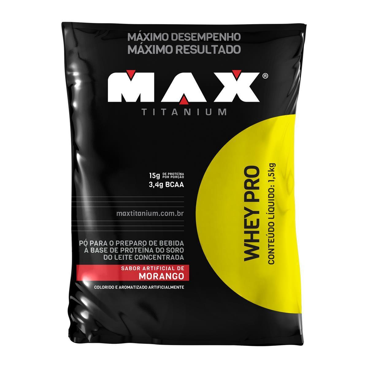 Whey Protein - Pró Max Titanium Refil 1,5Kg