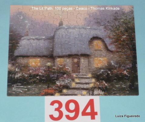 Combo Quebra-Cabeças 1x100, 1x300, 1x500 peças - Thomas Kinkade Shimmer, Ceaco