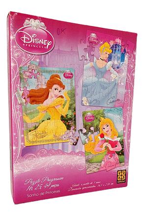 Combo 16, 25 e 49 peças - Grow - Disney Princesa