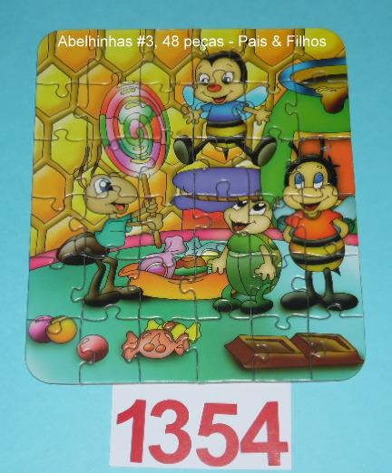 Combo 24, 36 e 48 peças - Pais & Filhos - Abelhinhas