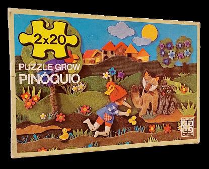 Combo 2 x 20 peças - Grow - Pinóquio, peças grandes