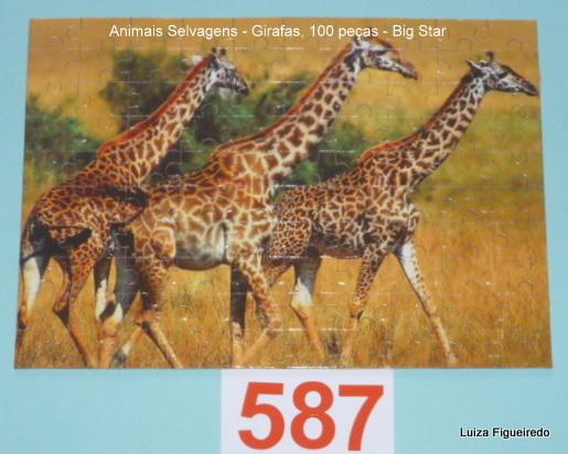 Combo - 3 Quebra-Cabeças - 100 peças - Big Star Animais Selvagens