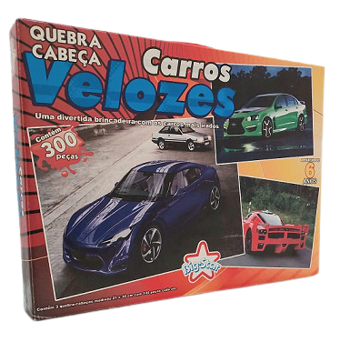 Combo - Quebra-Cabeça 300 peças - Big Star - Carros Velozes