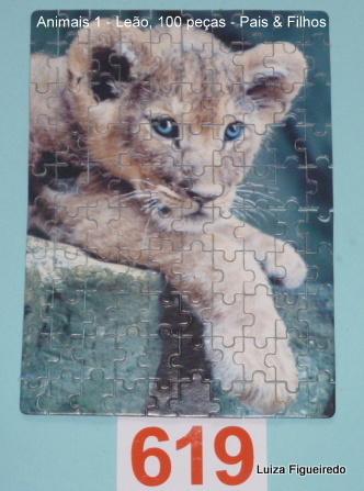 Combo 3 Quebra-Cabeças 3x100 - Pais & Filhos - Animais