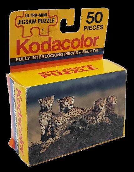 Quebra-Cabbeça 50 peças - Kodacolor - Cheetah and Cubs