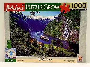 Quebra-Cabeça 1000 MINI peças - Grow - Noruega - saco lacrado