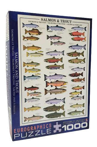 Quebra-Cabeça 1000 peças - Eurographics - Salmon and Trout