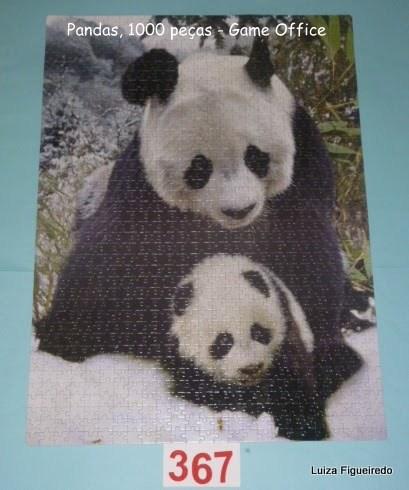 Quebra-Cabeça 1000 peças - Game Office - Pandas