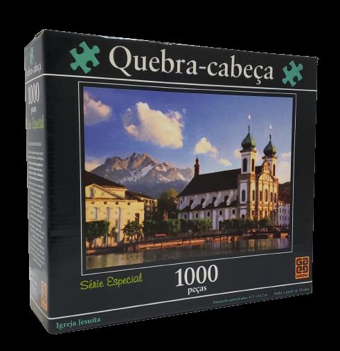 Quebra-Cabeça 1000 peças - Grow - Igreja Jesuita Saco Lacrado