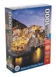 NOVO Quebra-Cabeça 1000 peças - Grow - Noite em Cinque Terre