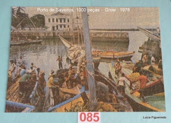 Quebra-Cabeça 1000 peças - Grow - Porto de Saveiros, Bahia