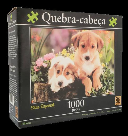 Quebra-Cabeça 1000 peças - Grow - Série Especial - Filhotes