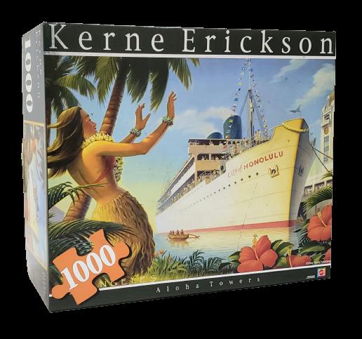 Quebra-Cabeça 1000 peças - Mattel - Aloha Towers, Kerne Erickson