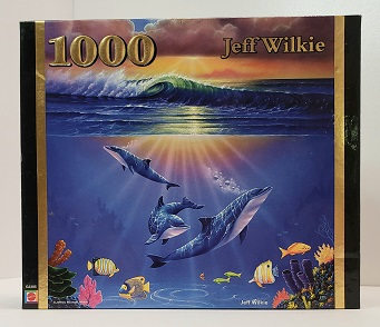 Quebra-Cabeça 1000 peças - Mattel - Maui Dolphins Sunrise, Jeff Wilkie