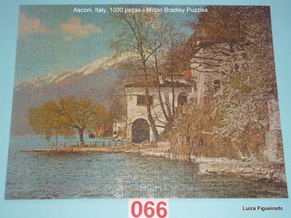 Quebra-Cabeça 1000 peças - Milton Bradley - Asconi, Italy ano 1973