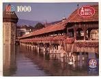 Quebra-Cabeça 1000 peças - Milton Bradley - Wooden Bridge