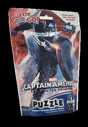 Quebra-Cabeça 100 peças - Cardinal Games  - Captain America