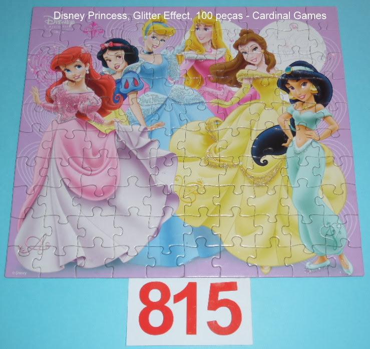 Quebra-Cabeça 100 peças - Cardinal Games - Disney Princess Gliter