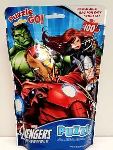Quebra-Cabeça 100 peças - Cardinal Games - Marvel - Avengers