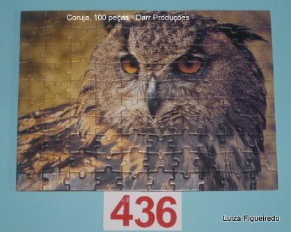 Quebra-Cabeça 100 peças - Darr Produções - Fauna, Coruja