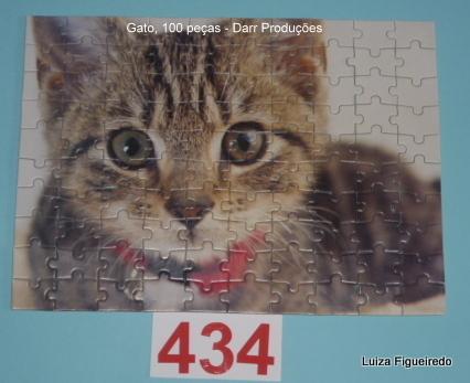 Quebra-Cabeça 100 peças - Darr Produções - Pets, Gato