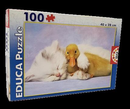 Quebra-Cabeça 100 peças - Educa - My best Friend - Large Pieces