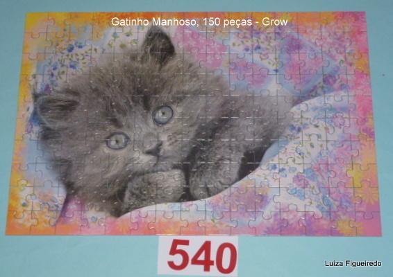 Quebra-Cabeça 100 peças - Grow - Gatinho Manhoso