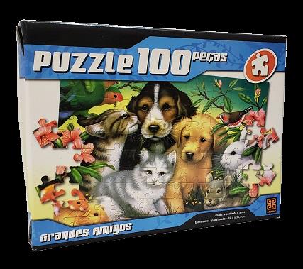 Quebra-Cabeça 100 peças - Grow - Grandes Amigos