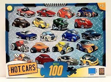 Quebra-Cabeça 100 peças - Grow - Hot Cars