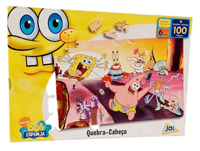 Quebra-Cabeça 100 peças - Jak - Bob Esponja