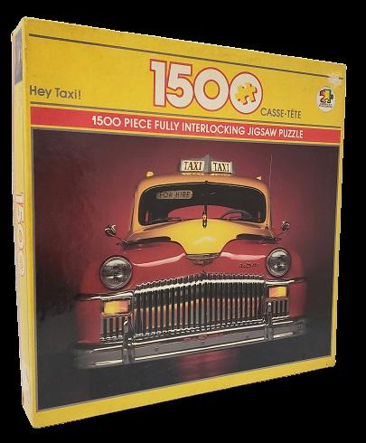 Quebra-Cabeça 1500 peças - American Publishing - Hey Taxi !!! Ano 1991