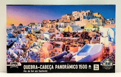 Quebra-Cabeça 1500 peças - Game Office - Pôr do Sol em Santorini