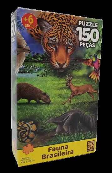 Quebra-Cabeça 150 peças - Grow - Fauna Brasileira