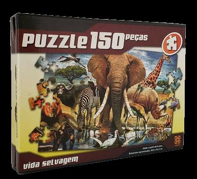Quebra-Cabeça 150 peças - Grow - Vida Selvagem