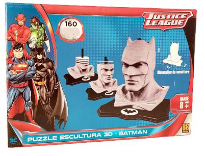 Quebra-Cabeça 160 peças - Puzzle Escultura 3D - Justice League - Batman