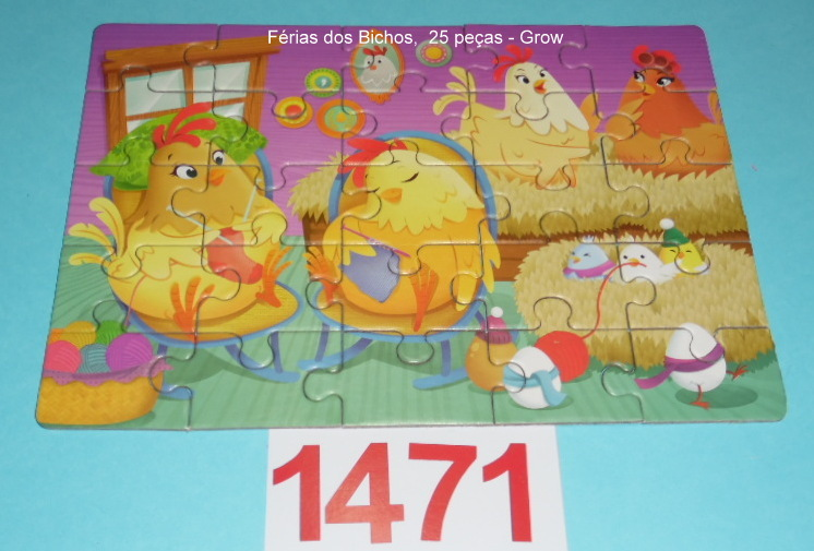 Quebra-Cabeça 16, 25 e 49 peças - Grow - Férias dos Bichos