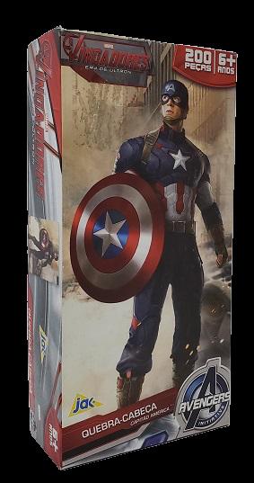 Quebra-Cabeça 200 peças - Jak - Avengers - Cap América