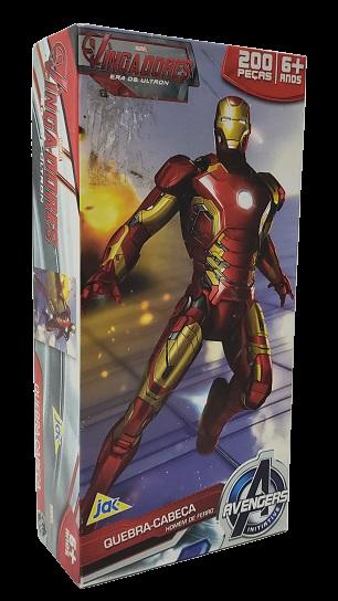 Quebra-Cabeça 200 peças - Jak - Avengers - Homem de Ferro